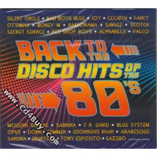 BACK TO THE DISCO HITS OF THE 80'S (2 CD) in Digipak / Digipack